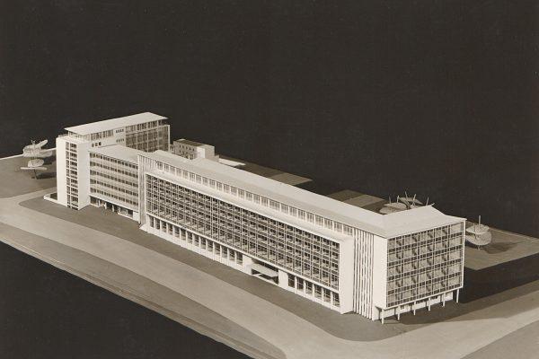 Architekturmodell für den Neubau der Hauptpost, um 1960