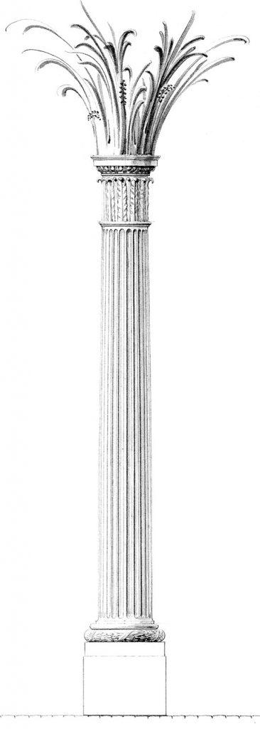 Säulenentwurf von Andreas Stötzner
