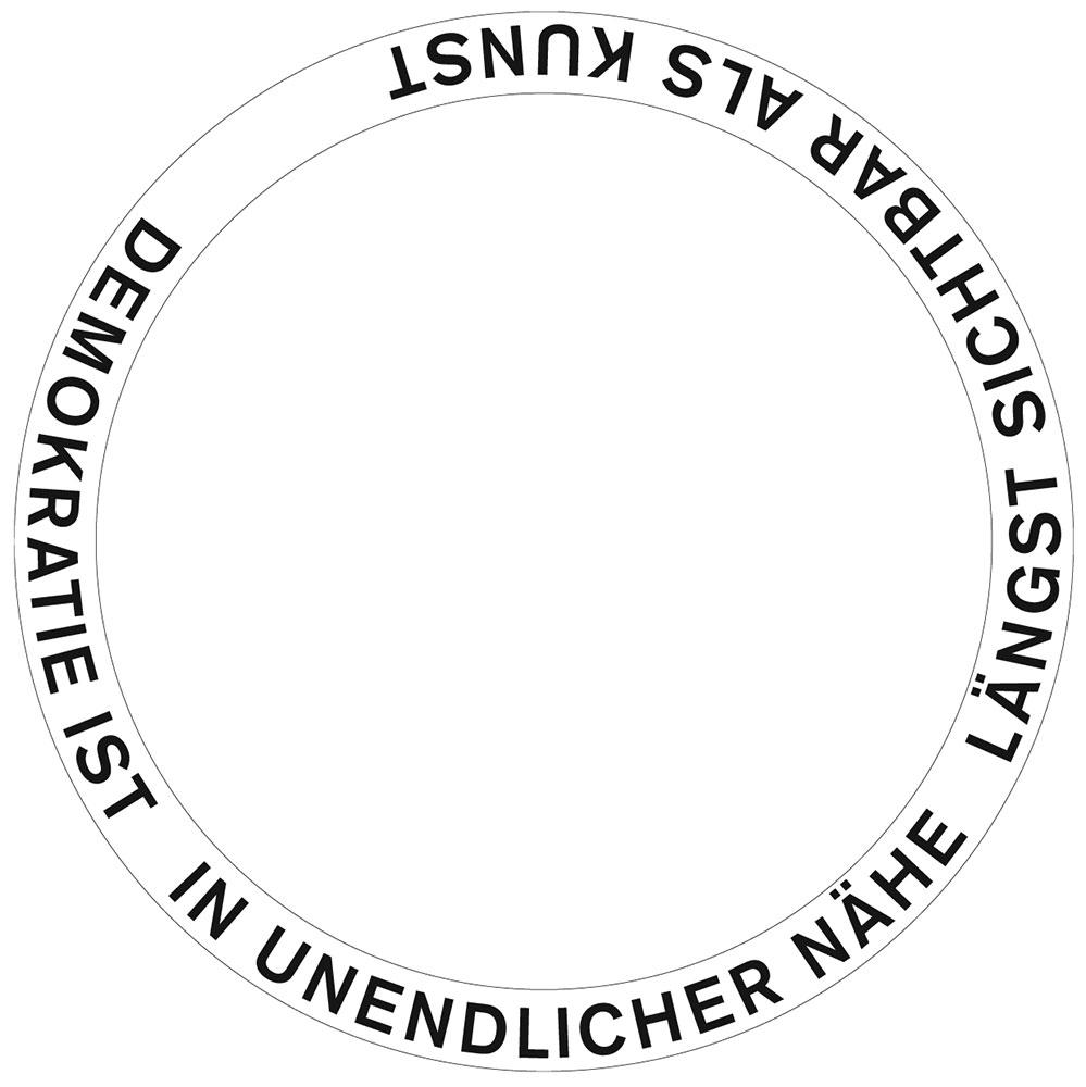 Schriftentwurf für den Granitring, ein Haiku von Durs Grünbein
