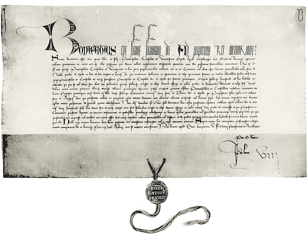 Stiftungsurkunde 1393