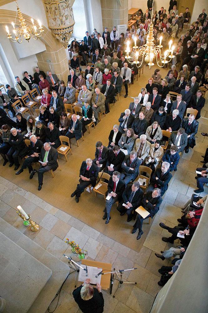 Die Eröffnung der Ausstellung in der Schlosskirche Torgau