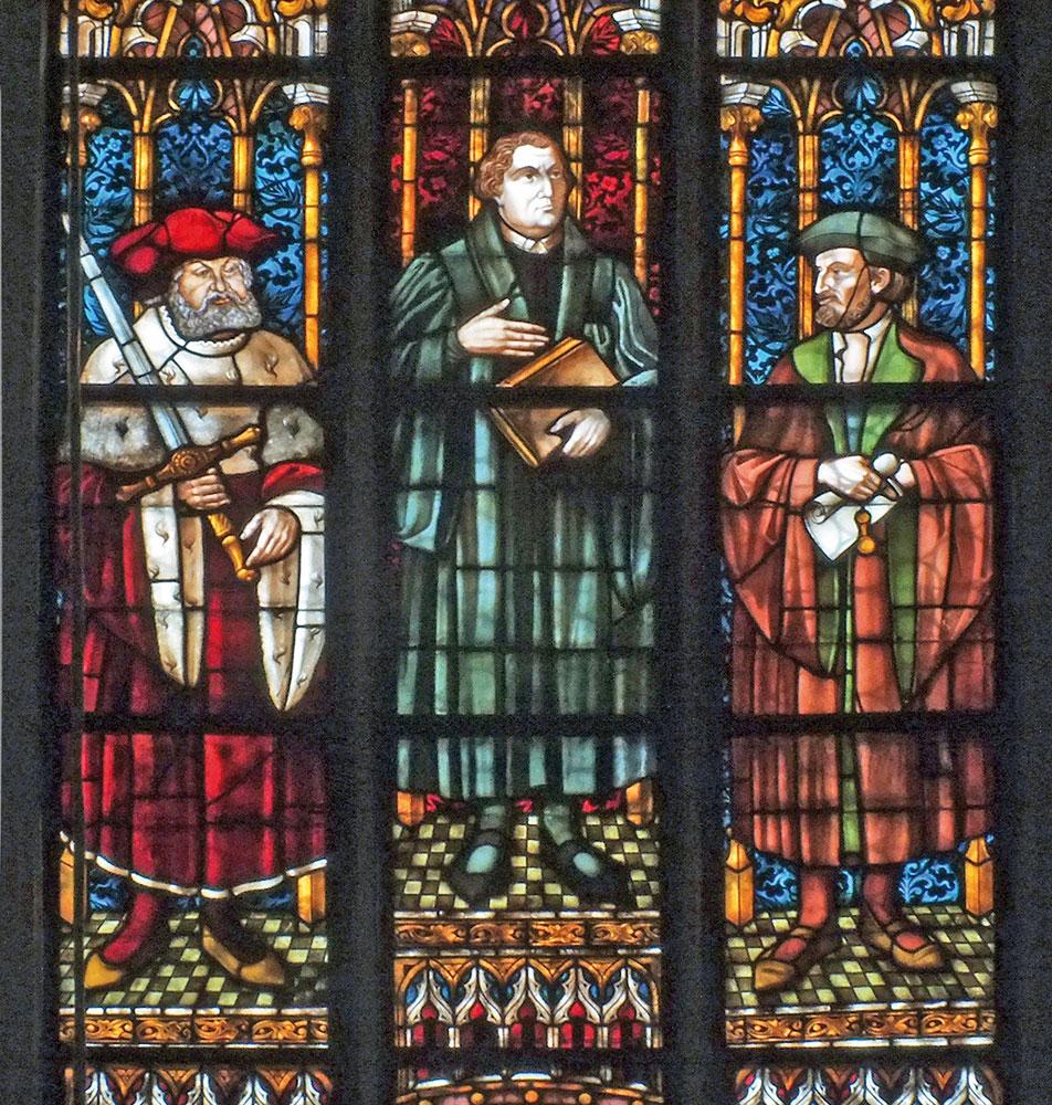 Lutherfenster in der Thomaskirche Leipzig
