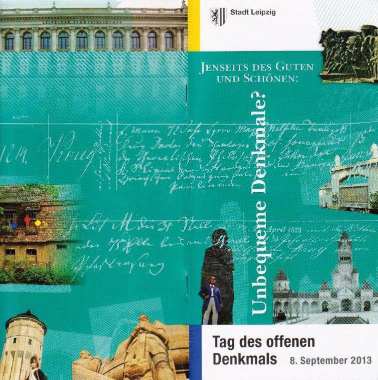 Veranstaltungsbroschüre der Stadt Leipzig zum Tag des offenen Denkmals 2013