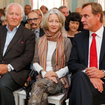 Die Ehrengäste Wolf Siegfried Wagner, Nike Wagner und Burkhard Jung