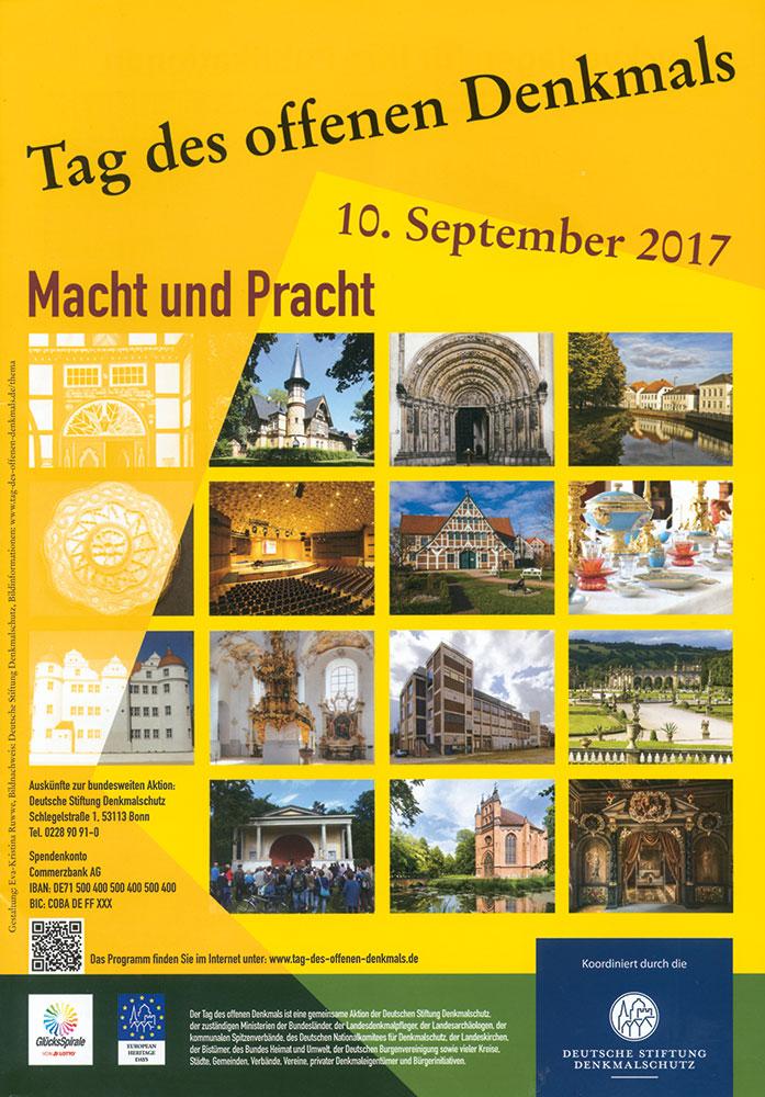 Plakat zum Tag des offenen Denkmals 2017 der Deutschen Stiftung Denkmalschutz
