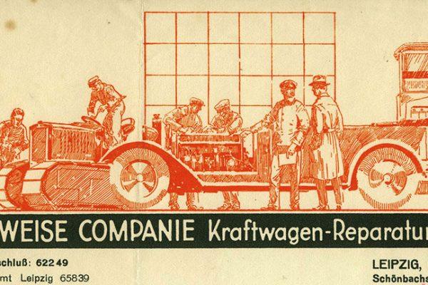 WEISE COMPANIE Kraftwagen-Reparatur-Werk, 1928