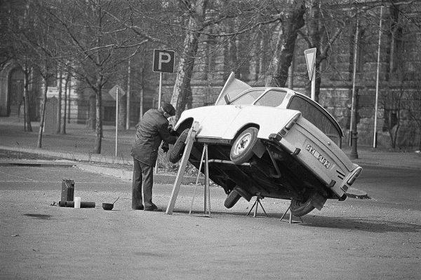 Trabantreperatur in der DDR