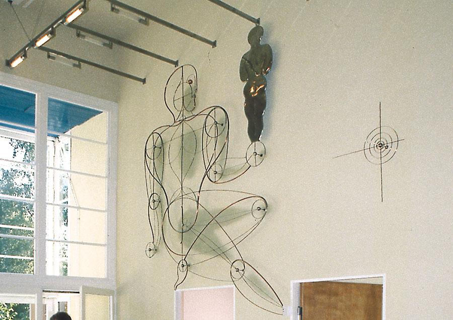 Haus Rabe, Wandgestaltung von Oskar Schlemmer